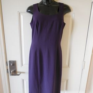 Newport News Sleeveless Shift Dress Purple